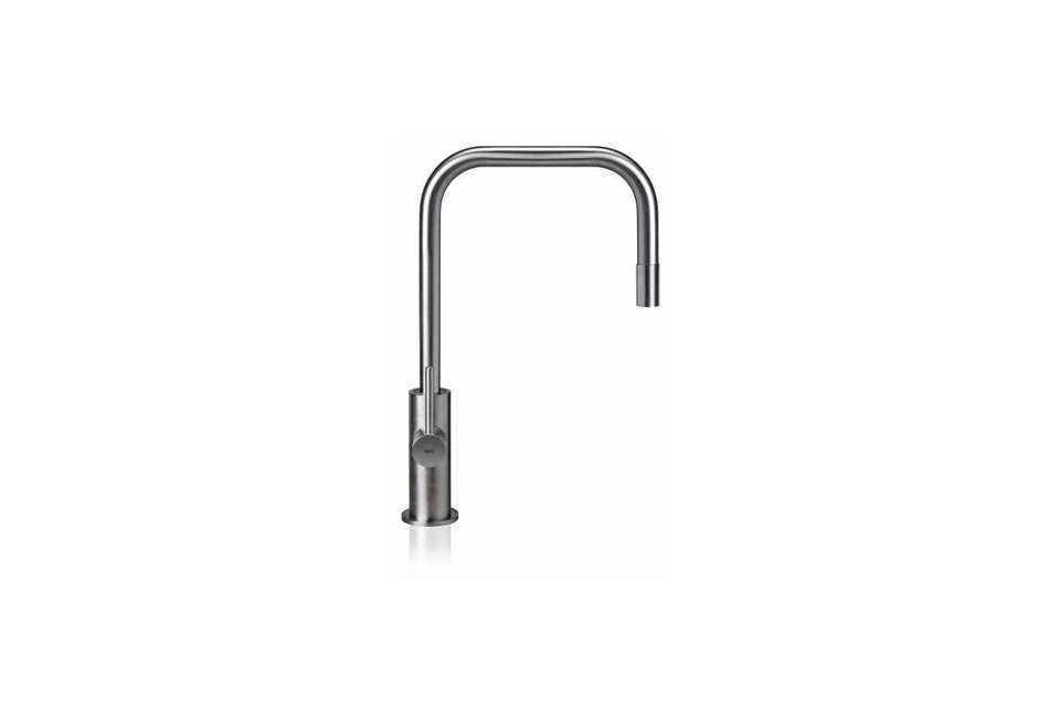 From Milan Based MGS Faucets, The Spin SQE Kitchen Faucet In Stainless  Steel Has