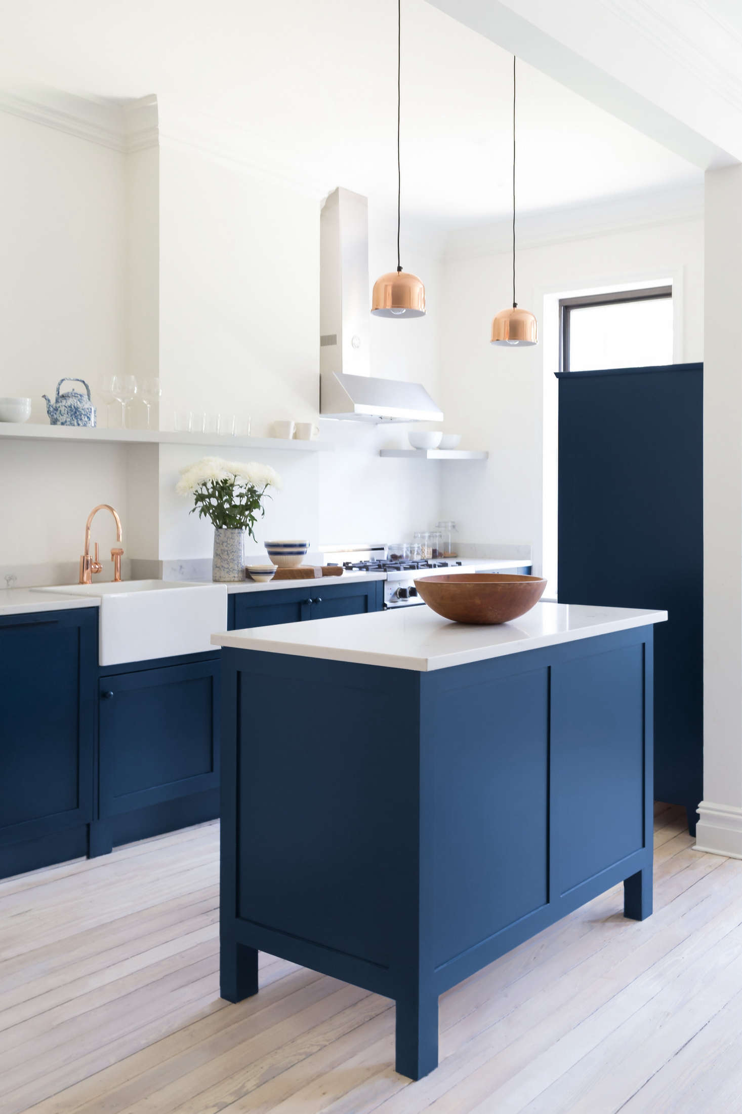 Steal This Look: A Bright Blue, Budget-Forward Kitchen in Brooklyn ...