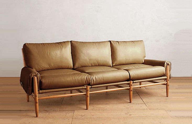 Hipster Swedish Leather Kontiki Sofa