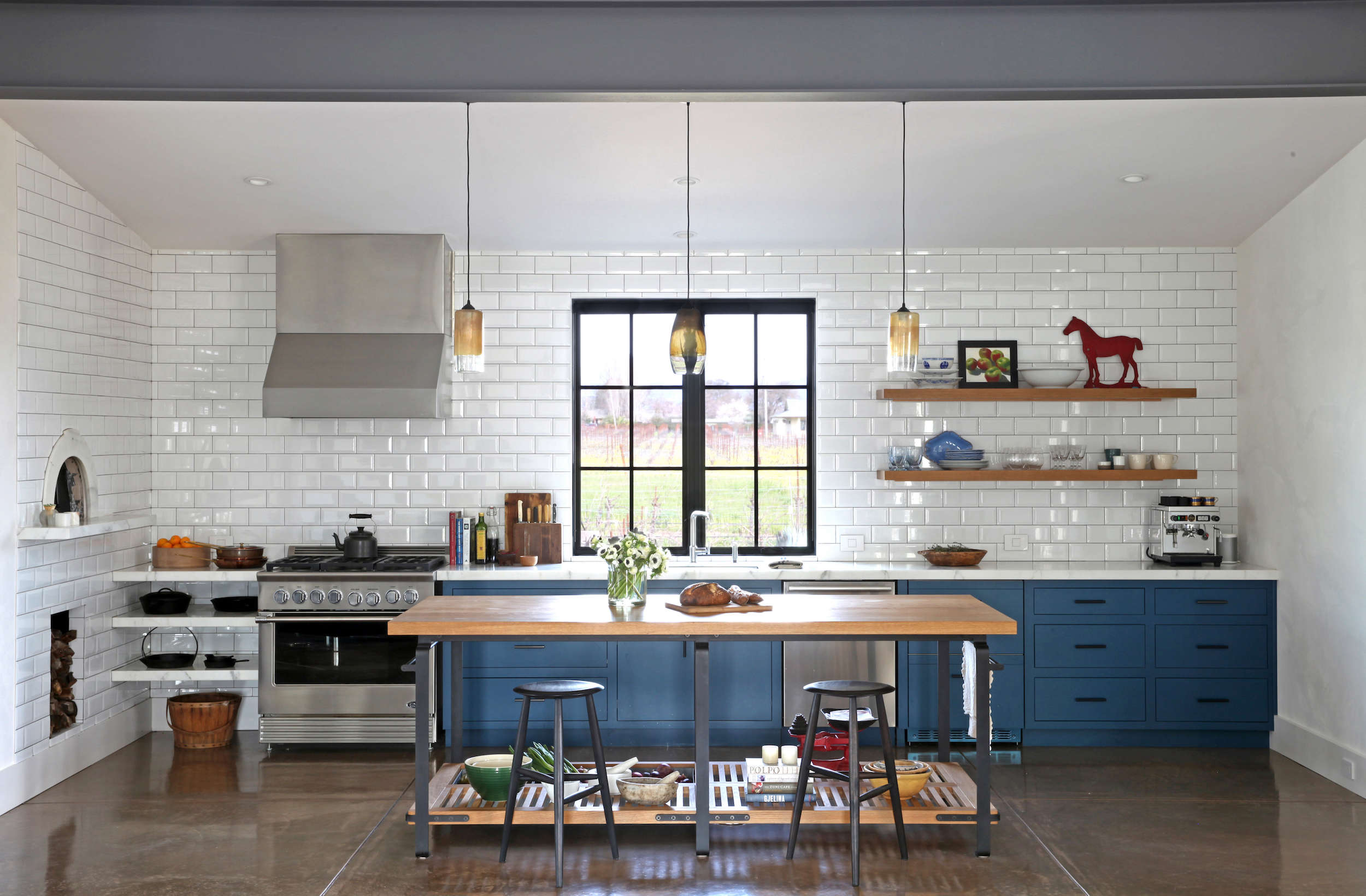 steal this look: a modern farmhouse kitchen, california wine country