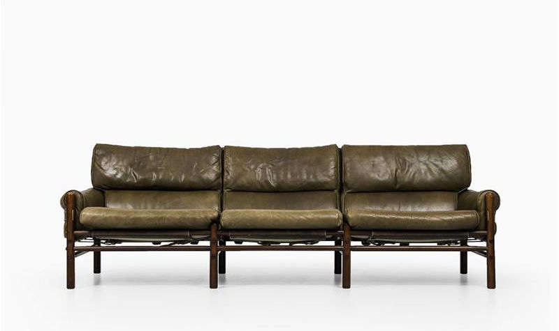 e6861715df1 The Kontiki Sofa by Swedish designer Arne Norell has a beech frame with  leather upholstery