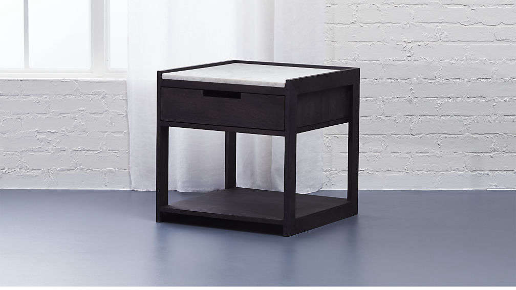Nice Tux Marble Top Nighstand