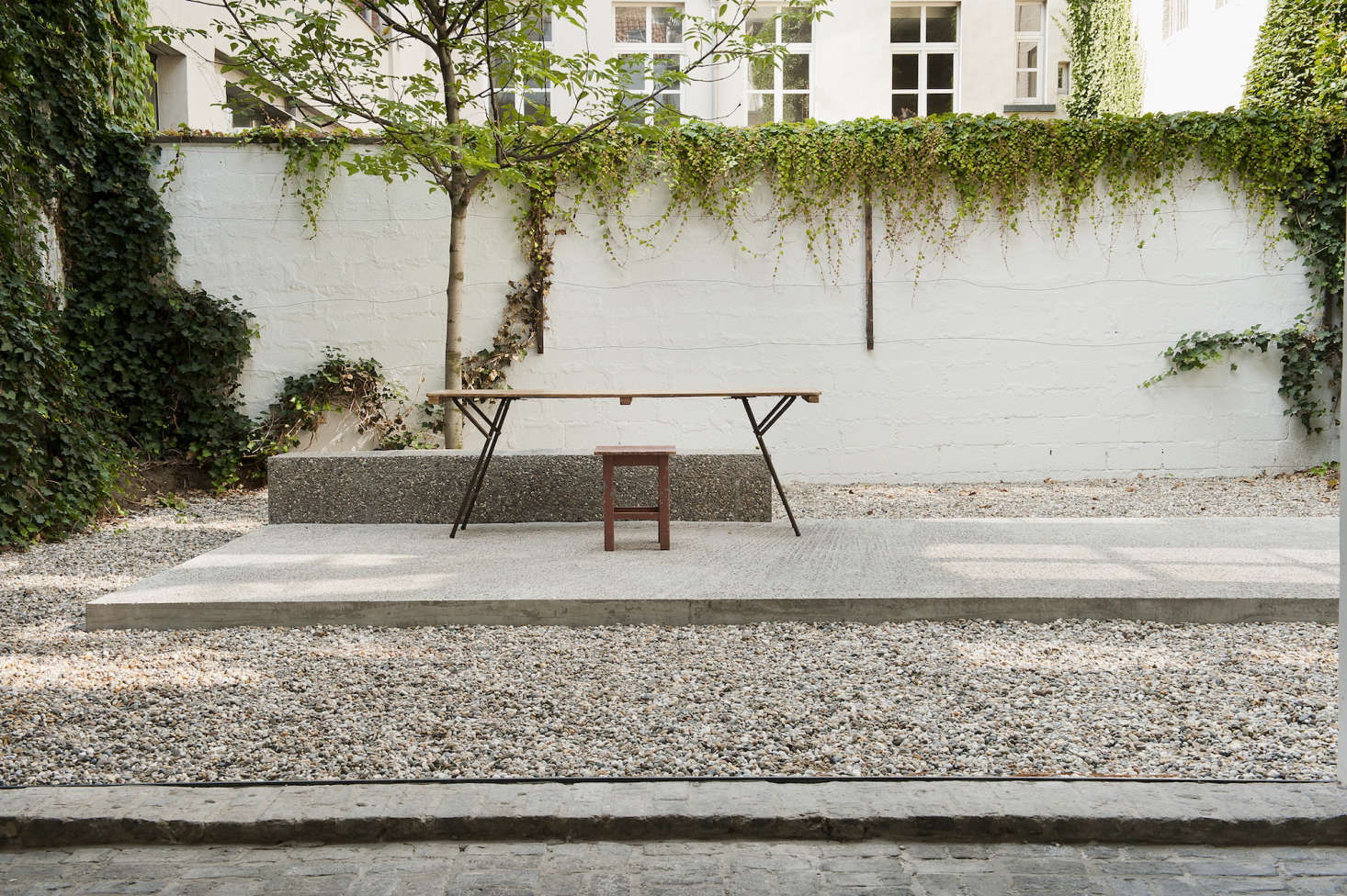 The simple, but striking courtyard space.