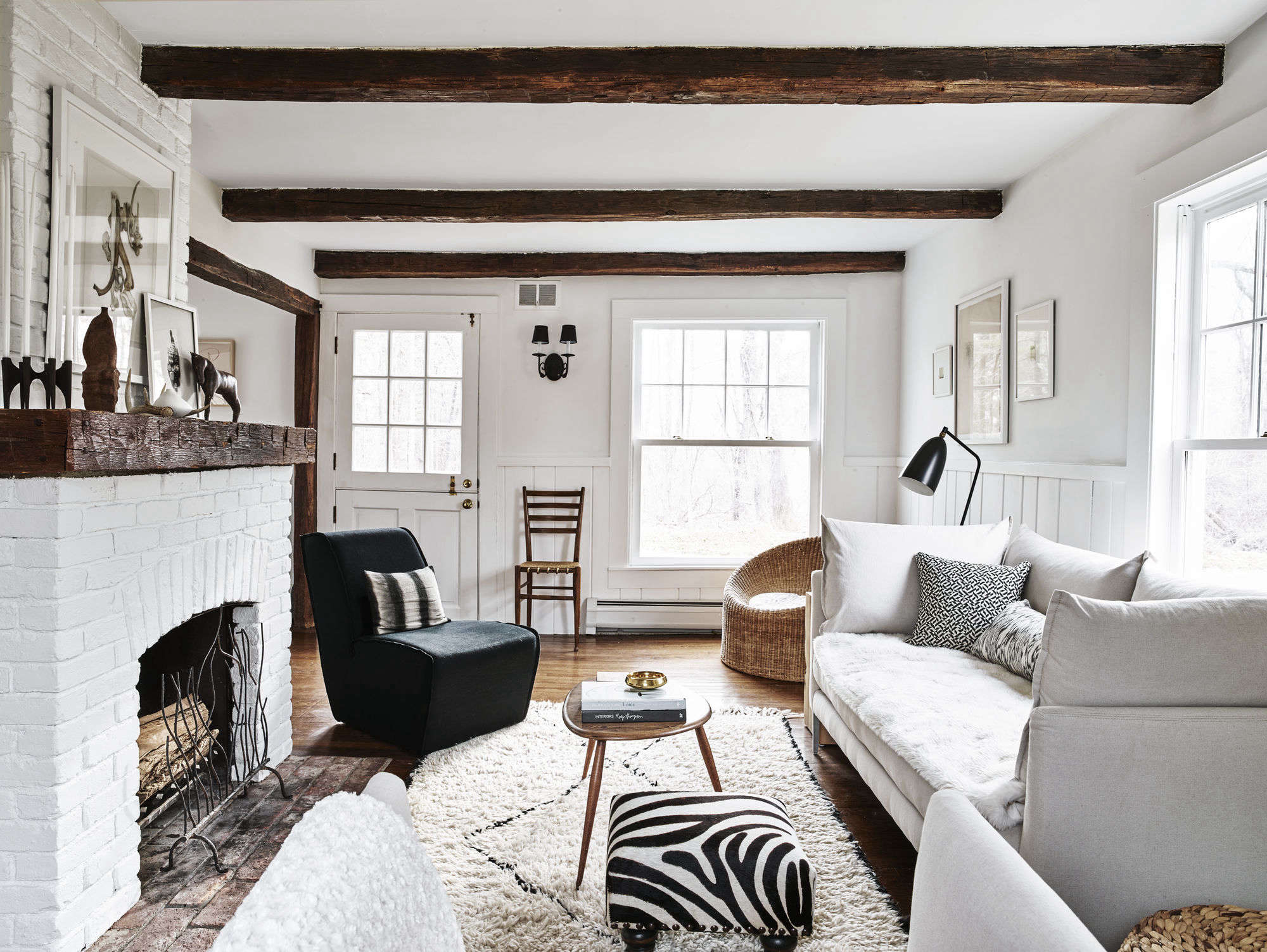 Cosmetic historic house remodel using little more than white paint ...