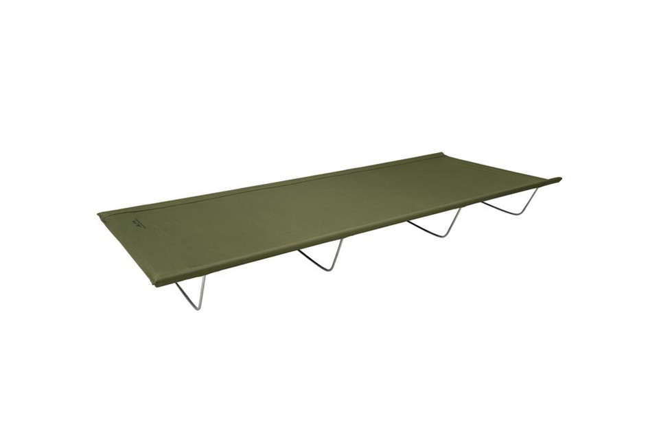 Reminiscent of vintage steel-framed army beds, the Alps Lightweight Camp Cot weighs in at only src=