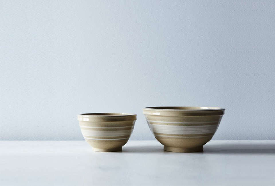 The Yellowware Mixing Bowl ranges from $src=