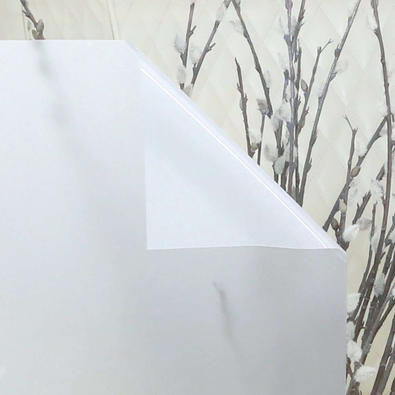 Non Adhesive Frosted Privacy Window Film