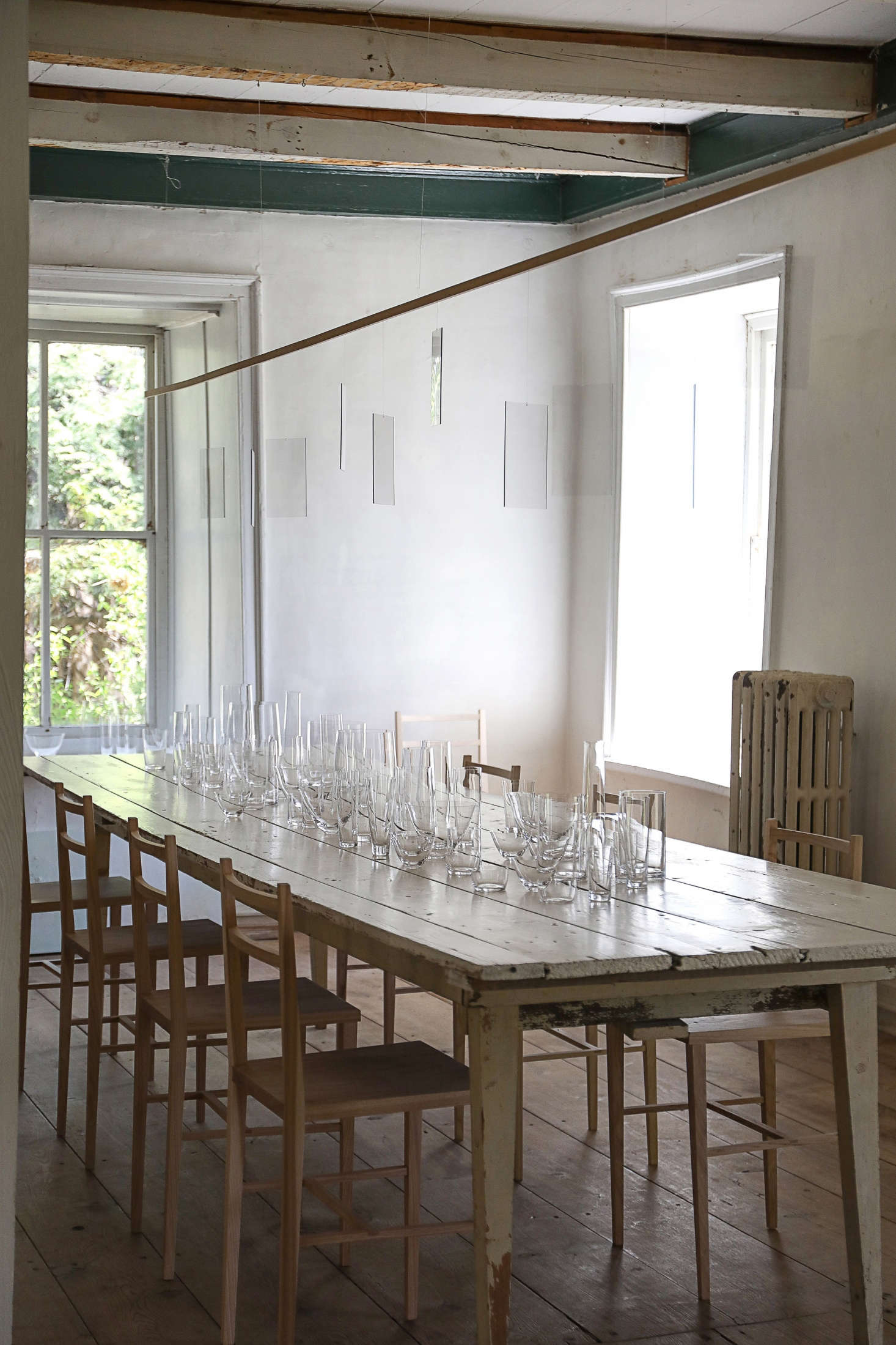 Nice Suspended over the dining table is a gossamer lighting installation a long mobile featuring floating