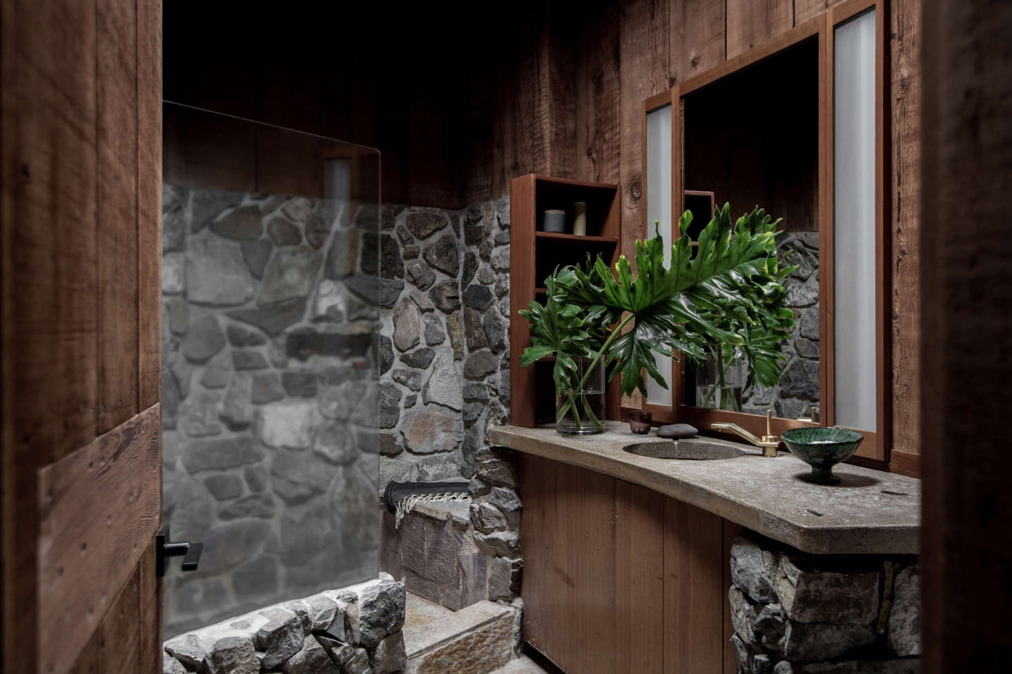 Original Redwood Paneling At The Esalen Institute In Big Sur, California,  Updated By Salt