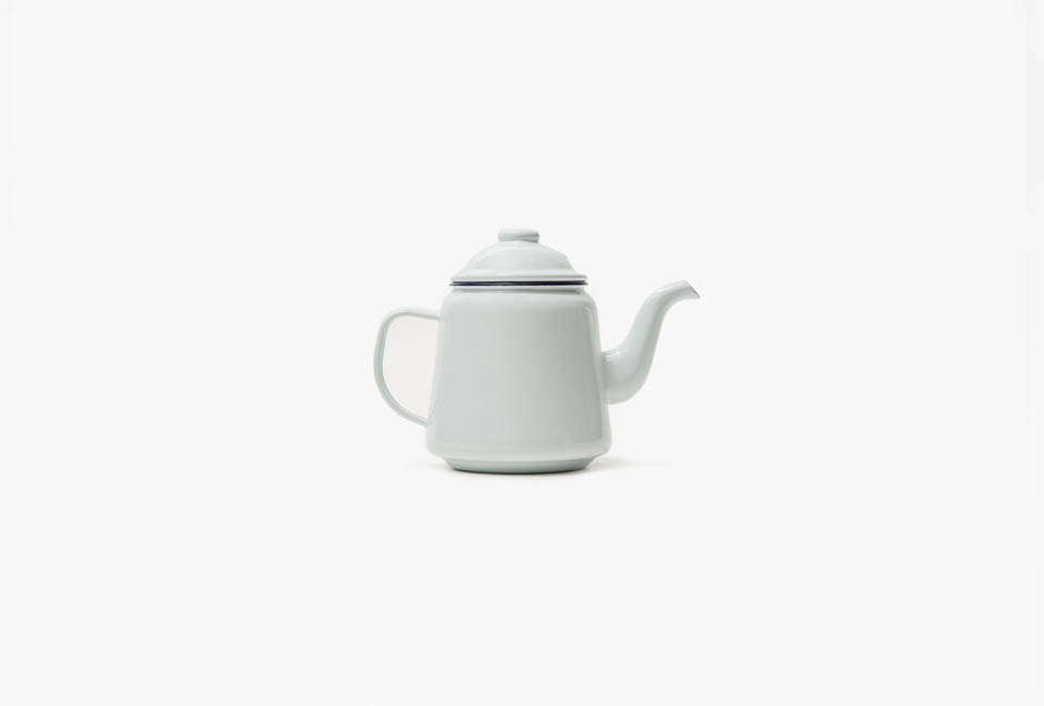 The Falcon Enamelware Teapot in White is $29 at Need Supply.