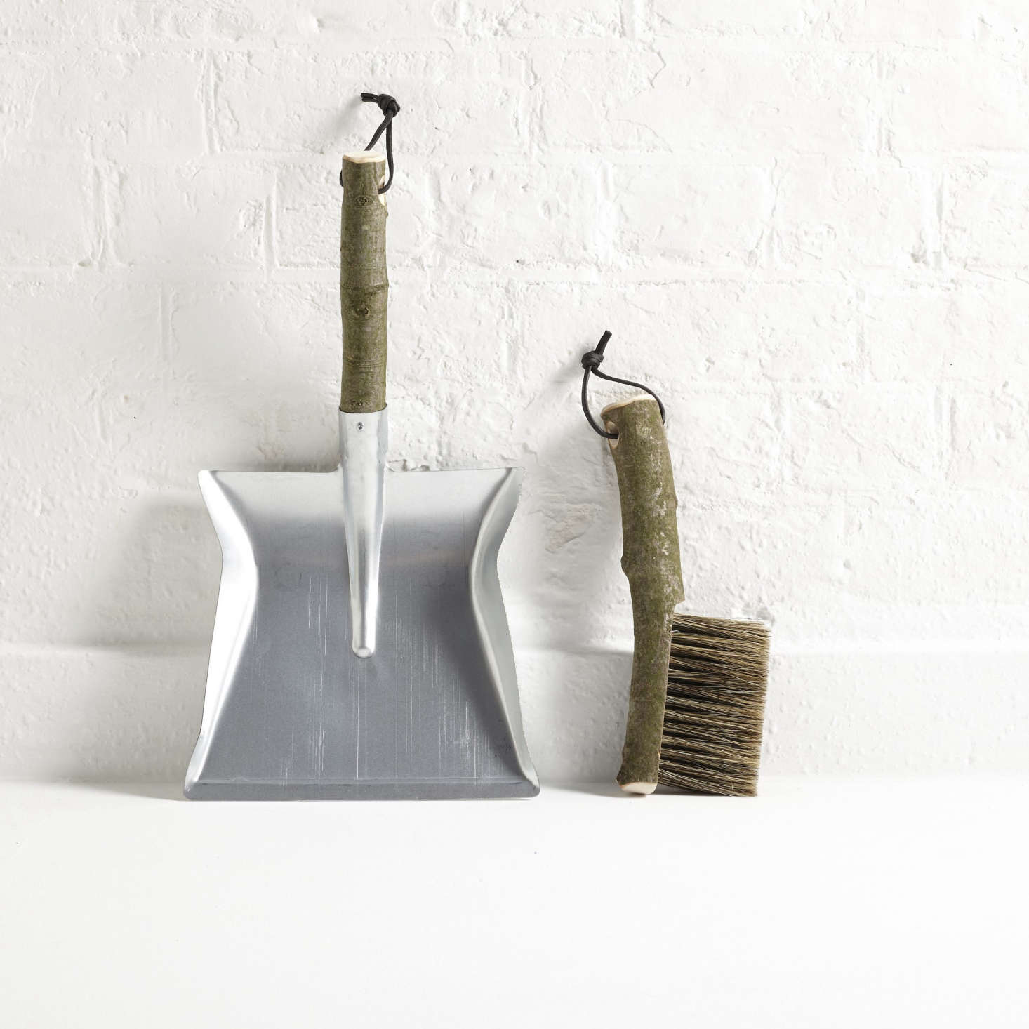 The handmade Geoffrey Fisher Dustpan and Brush is &#8