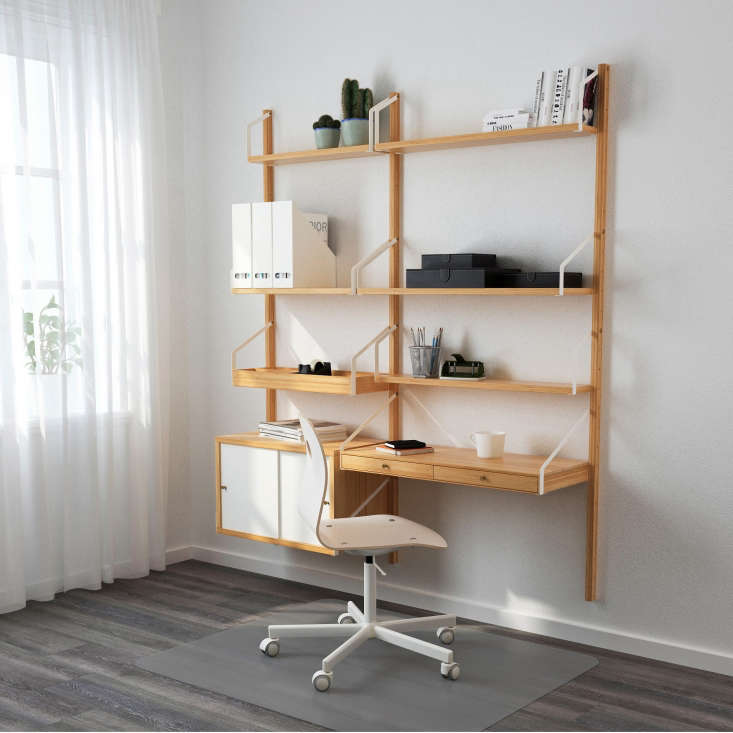 High Low Wall Mounted Midcentury Modular Shelving
