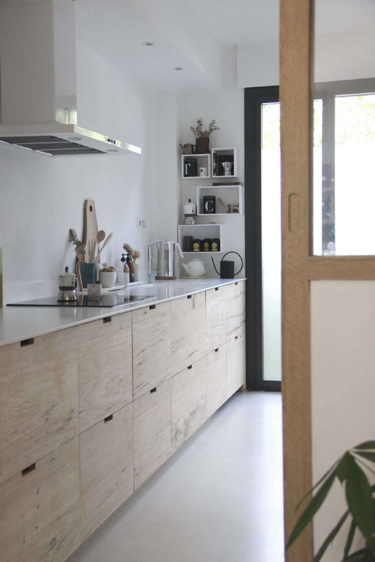 A designer 39 s own scandi style ikea hack galley kitchen in for Kitchen cabinets france