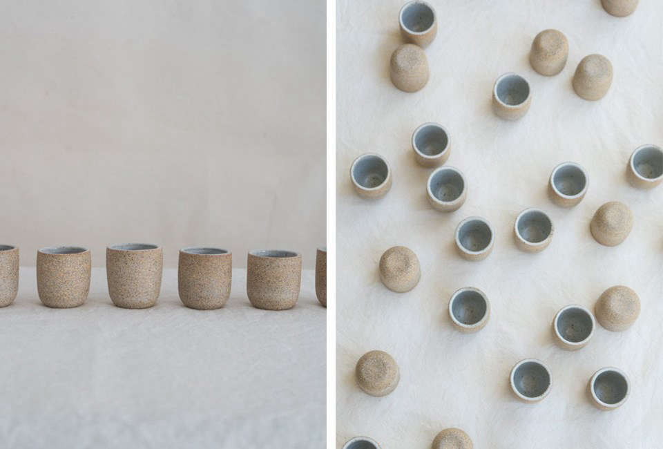 Ceramicist Julie Coultier makes Stoneware Copita in Soft Flecked Grey/Natural Clay for $30 for a single cup and $src=