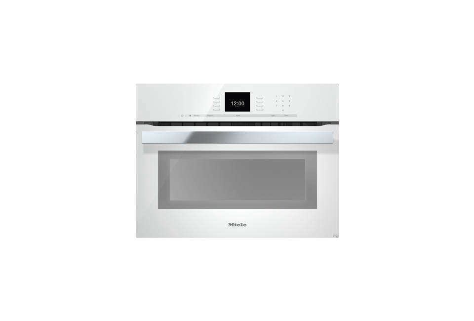 For a US version of the white wall oven, the Miele PureLine SensorTronic 24-Inch Electric Wall Oven is $3,299 at AJ Madison, and the Frigidaire 24-Inch Electric Wall Oven is $1,073, also at AJ Madison.