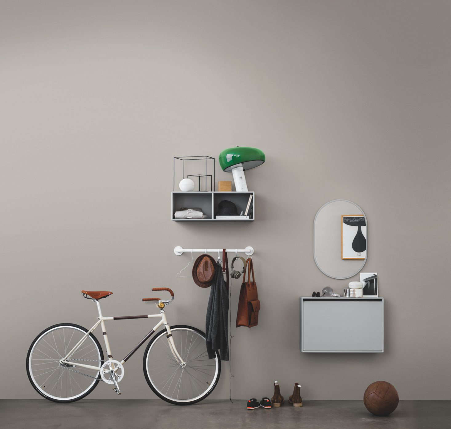 Montanau0027s Hall Edition includes ided cubes a wall-mounted hanging rail a shoe & Modular household storage systems from Montana of Denmark
