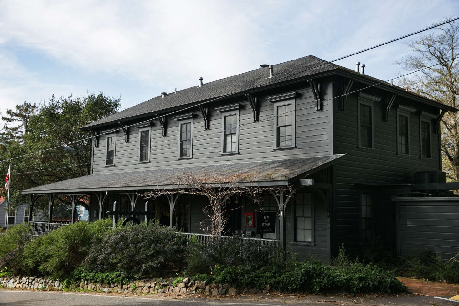 The Building S Exterior Is Painted In Benjamin Moore Black Panther A Flat Finish With