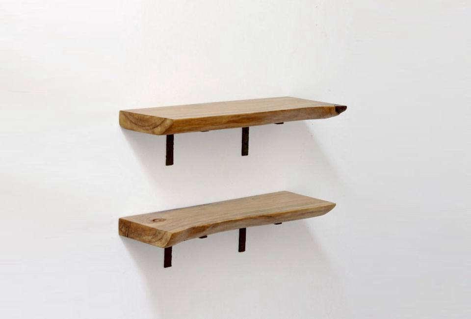 real wood works floating live shelves