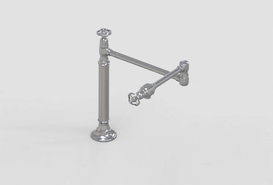10 Easy Pieces: Articulated Deck Mount Kitchen Faucets - Remodelista