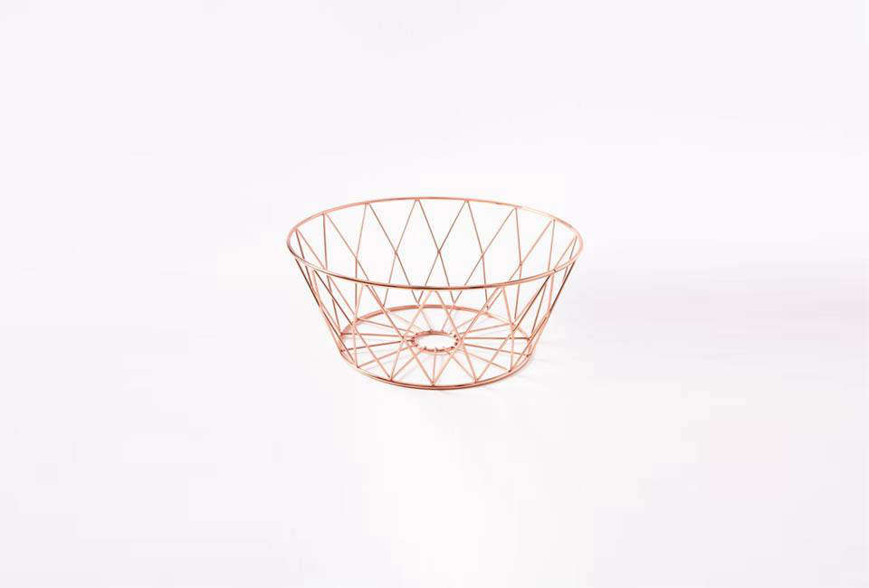 The Copper Wire Kitchen Fruit Bowl is $23 from West Elm.