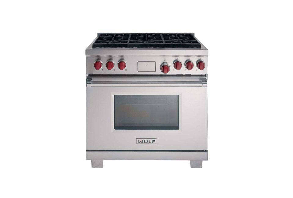 The Wolf Dual Fuel 36 Inch Range (DF366) With Six Burners Is $9,200