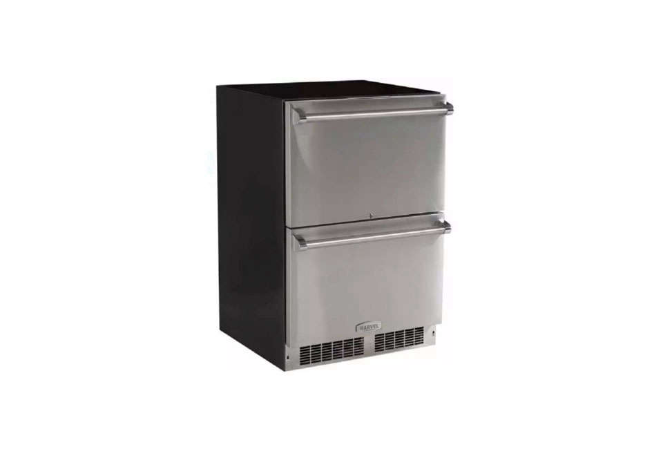 Marvel, the North American subsidiary of UK company Aga, makes 24-Inch Built-In Refrigerator Drawers with stainless steel interiors; $3,195. For more details, go to Marvel.