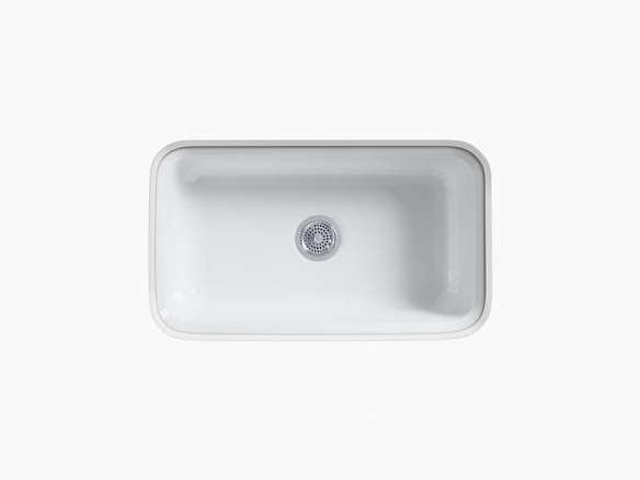 Kohler's Bakersfield White Cast-Iron Sink