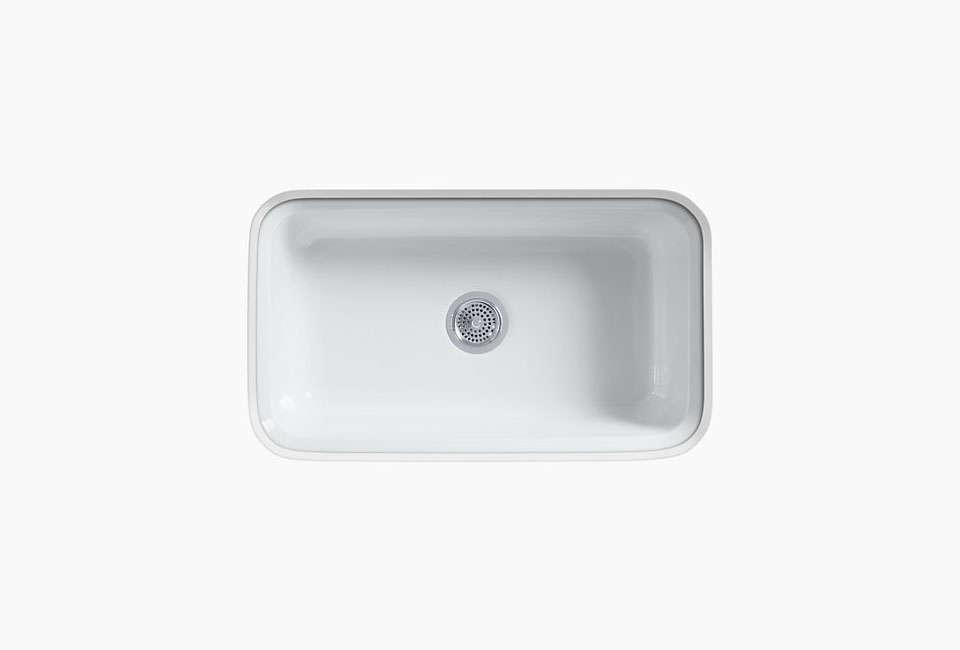 White Kitchen Sink Undermount 10 easy pieces: white kitchen farmhouse sinks - remodelista