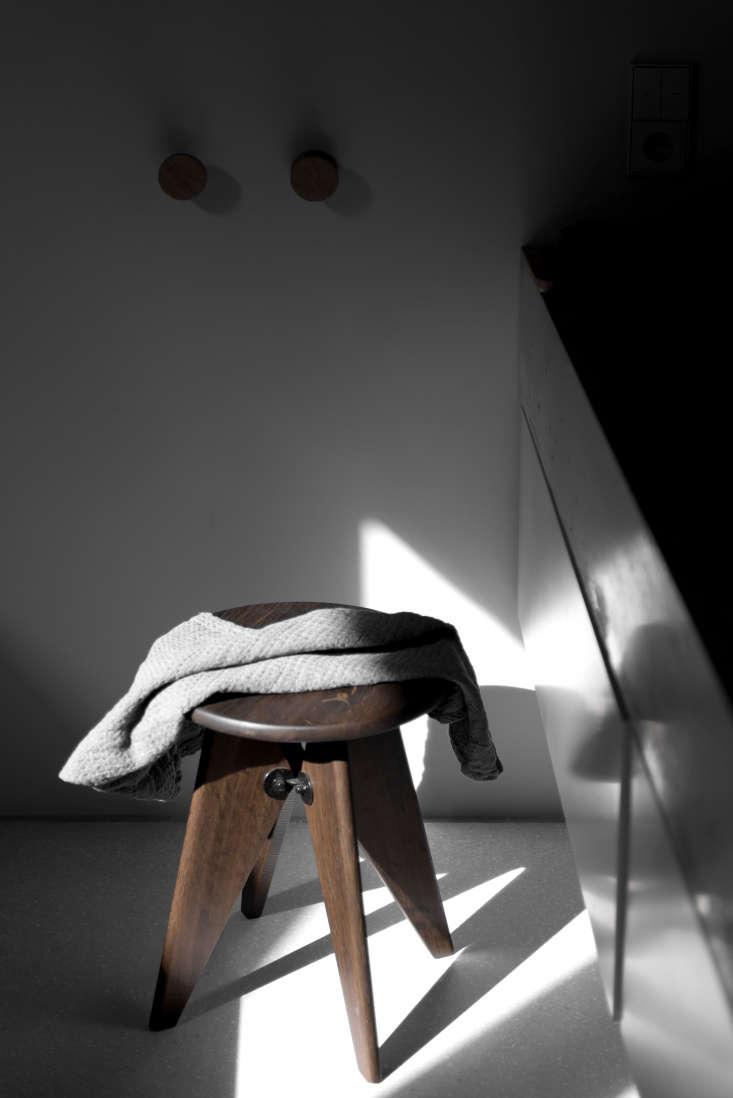 Jean Prouve Stool In A Berlin Master Bath Furnished By Loft Kolasinski Karolina Bak Photo