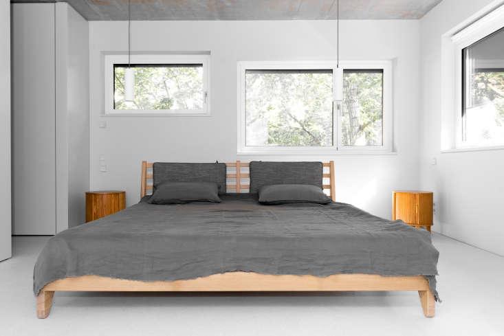 Oak Platform Bed Frame By Loft Kolasinski In A Minimalist Berlin House Karolina Bak Photo