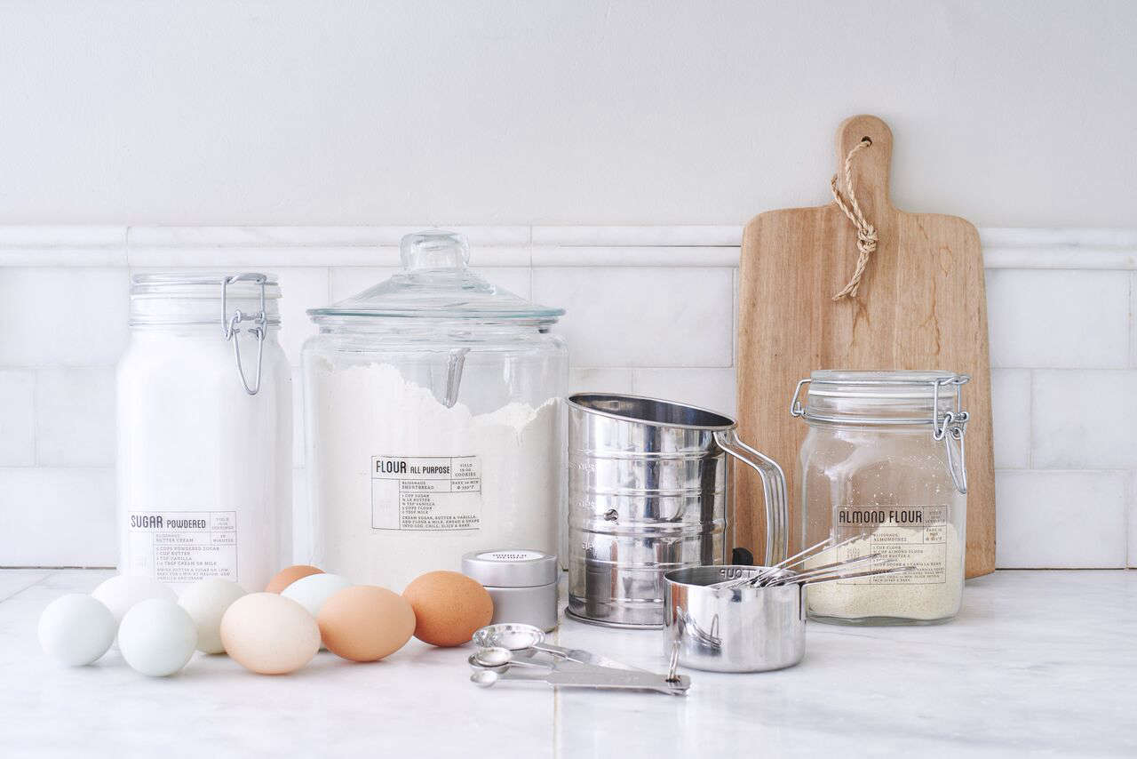 "A Set of Two Jars ranges from $12 to $30. ""Our glass jars are the key to the streamlined Blisshaus look and feel,"" Wiebke says. ""They seal airtight and will keep your food fresh."" The jars come in five sizes, from mini to jumbo."