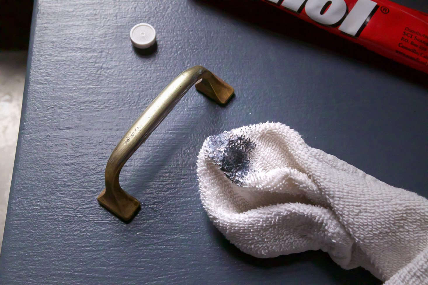 A good commercial cleaner is by far the fastest way to clean badly tarnished brass.