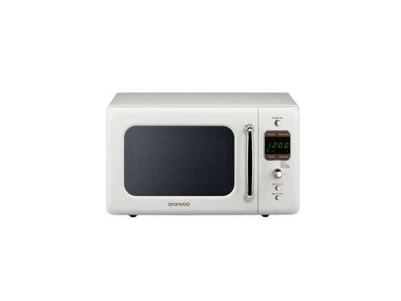 daewoo retro countertop microwave cream white - Countertop Microwave