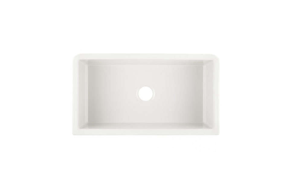 The 33-Inch Grigham Reversible Farmhouse Sink in White is $799.95 at Signature Hardware.