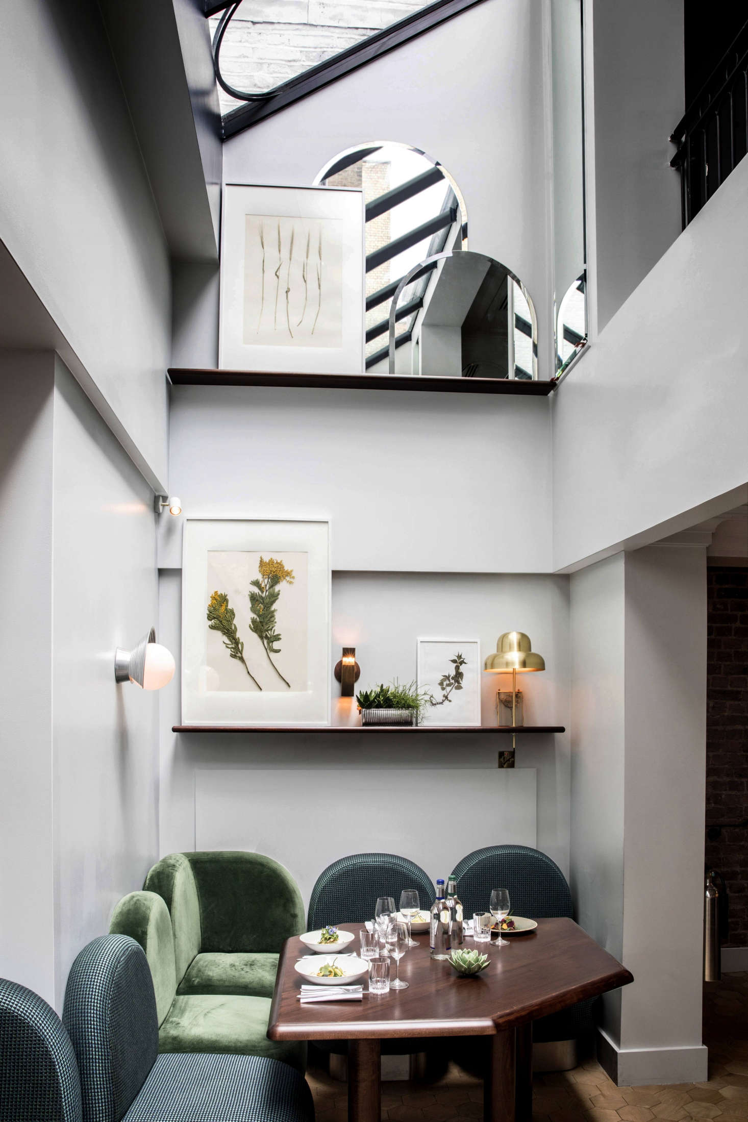 Framed, hand-pressed flora is almost geometric at A London Hotel with a Sense of Joie de Vivre. Photograph by Karel Balas.