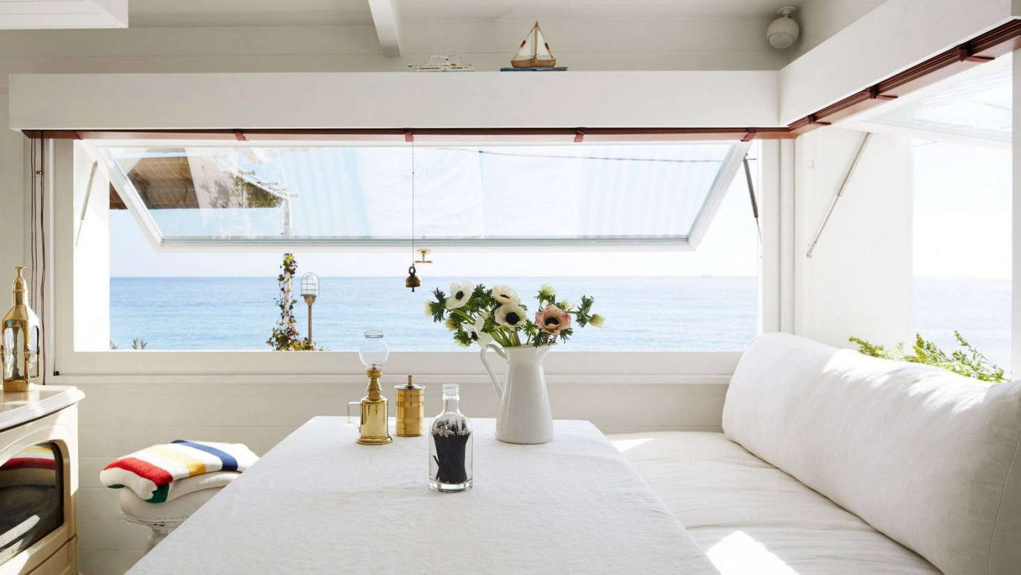 A Tiny (but Glamorous) Seaside Cabin on the Riviera
