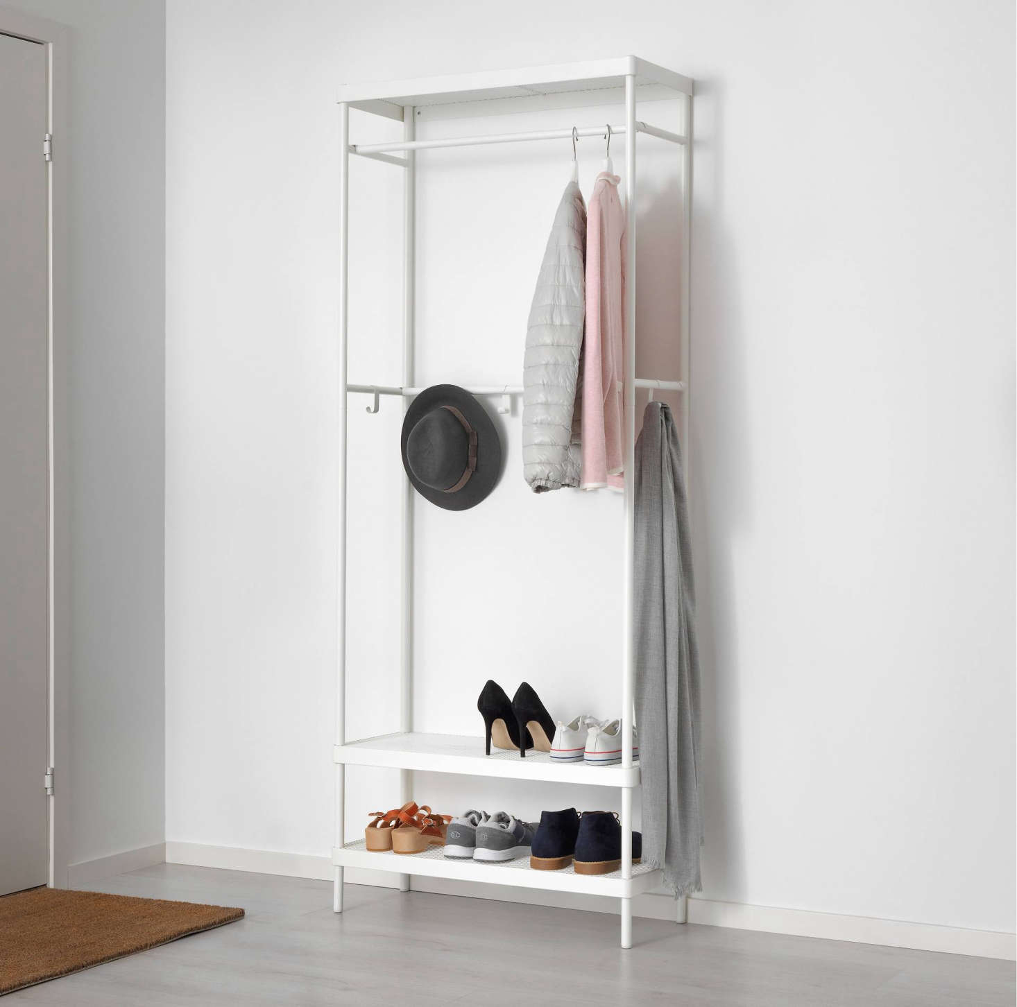The Mackapär Coat Rack With Shoe Storage Unit Is An All In One