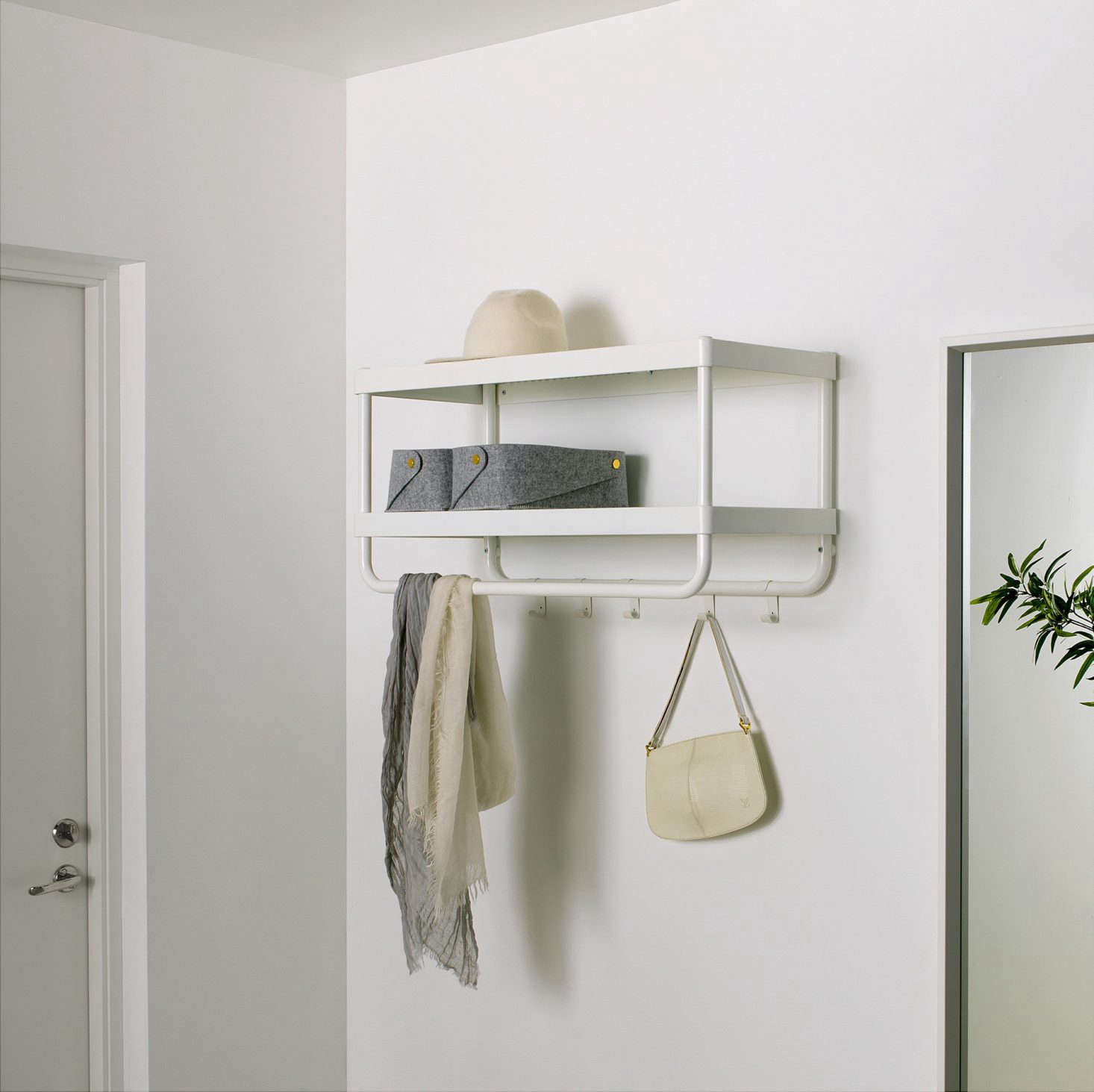 Ikea storage solutions for minimalists on a budget for Ikea coat and hat rack