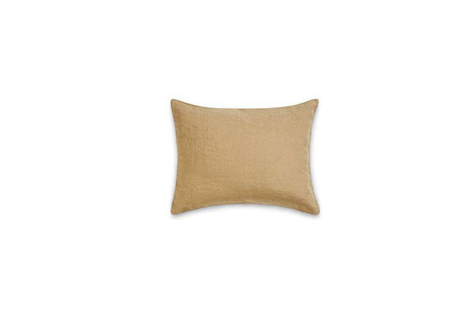 The Rectangular Washed Linen Pillowcase in Blister Beige is $4src=