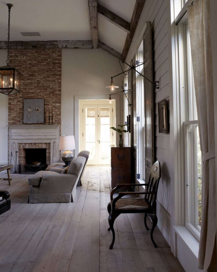 reclaimed wood flooring in vermont farmhouse by the hudson company