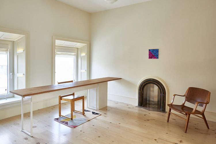 Reclaimed New Face Heart Pine flooring in a Carroll Gardens home remodeled by architectLouis Mackall.