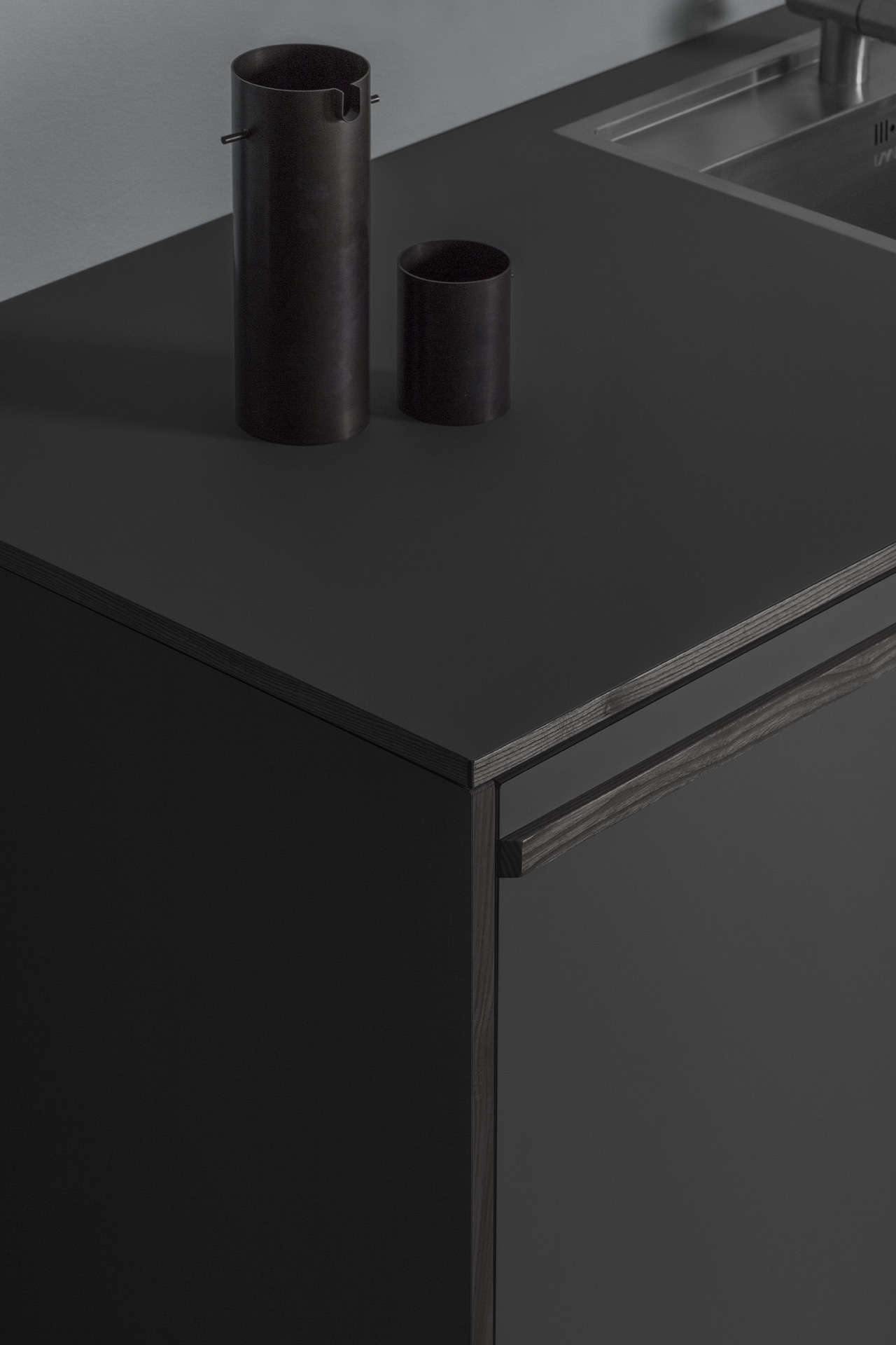 The Fronts Are Composed Of 3/4 Inch MDF With Veneered Ash On The