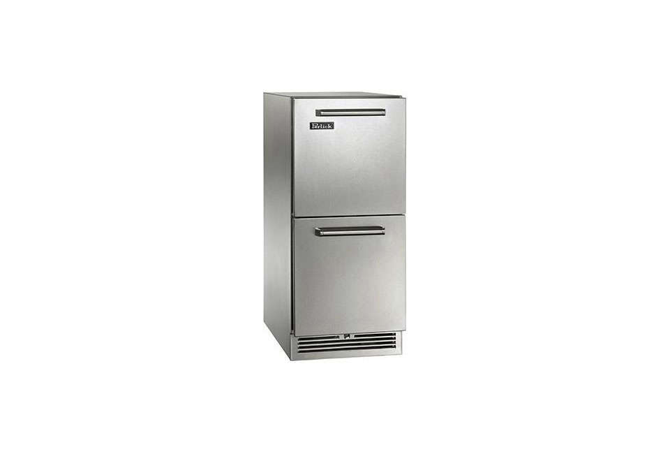 Addendum: A number of under-counter fridges are being made for use in outdoor kitchens (picture a well-stocked barbecue). Perlick, like Sub-Zero, manufactures its products in Wisconsin. A specialist in brewery parts, it offers a collection of refrigerator drawers, including these 15-Inch-Wide Signature Series Outdoor Refrigerator Drawers; $3,808 panel ready and $3,939 in stainless steel (shown).