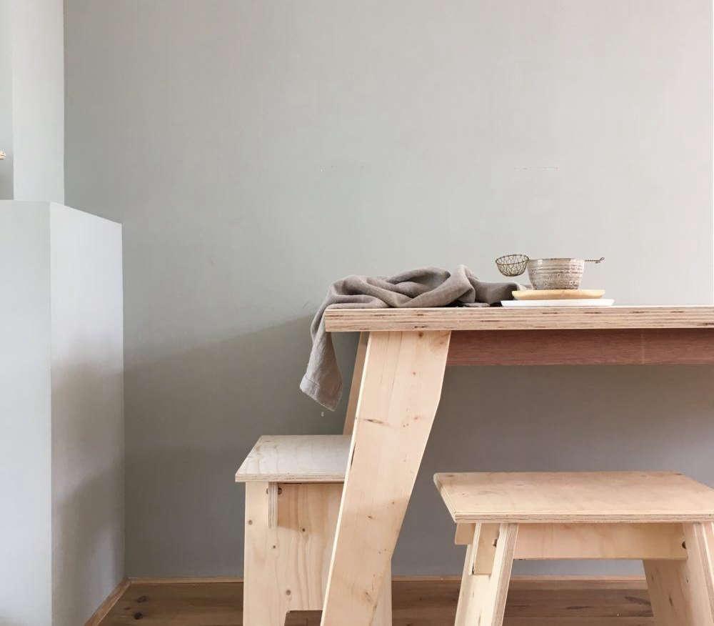 katsu table with angled legs