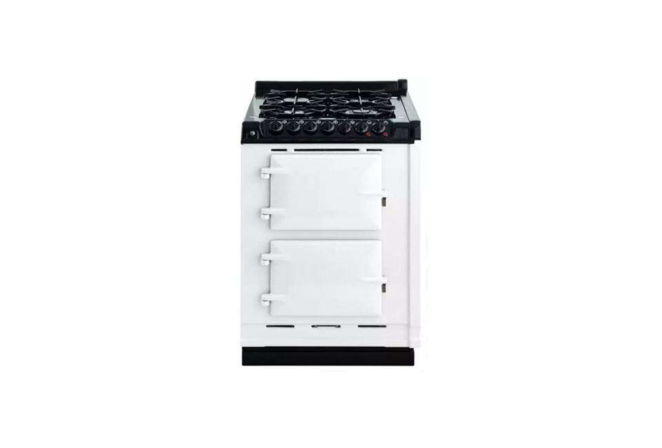 The Aga Companion Series 24-Inch Gas Range is $7,769 at Elite Appliances. For more, see Design Sleuth: Classic Aga Cookers.