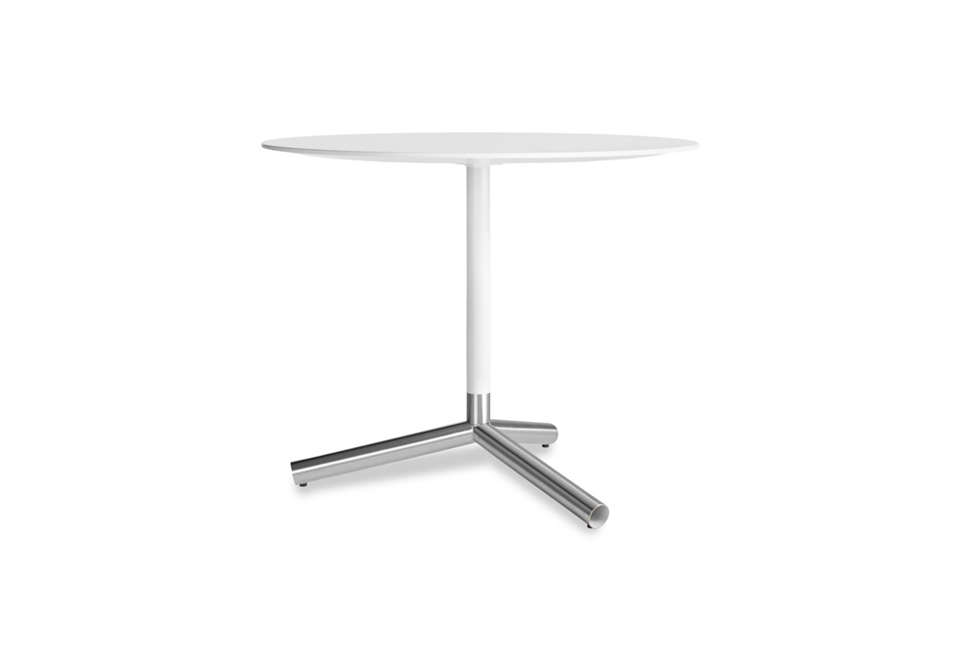 The Blu Dot Sprout Cafe Table Has A Powder Coated Top With Brushed  Stainless Steel