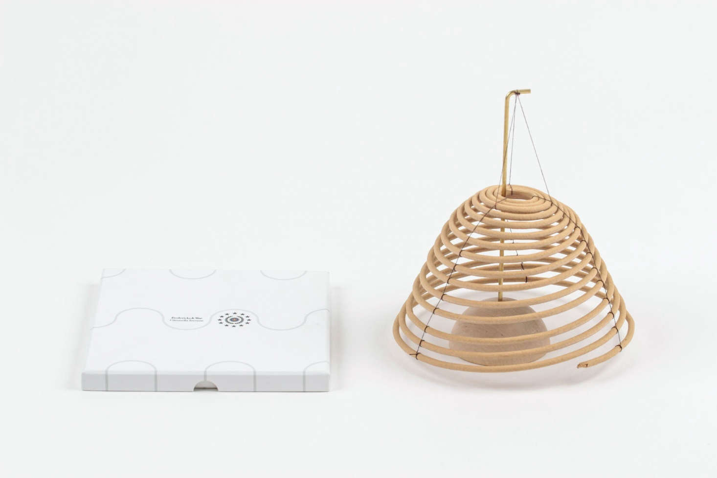 TheHanging Citronella Coil from Fredericks & Mae is a well-designed deterrent for pesky mosquitoes. It&#8