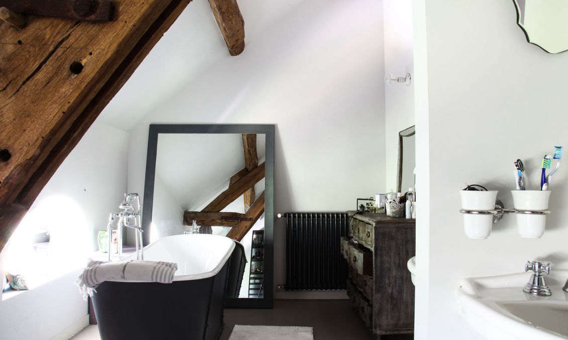A bathroom in France by Clarisse Prudent, whose family is featured in a book on French living from the Socialite Family&#8