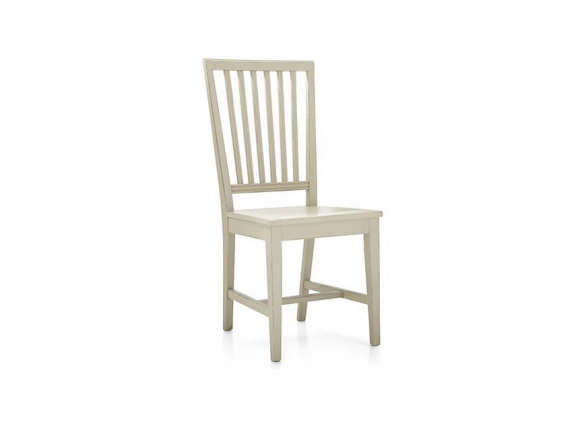 Village Vamelie Wood Dining Chair And Natural Cushion