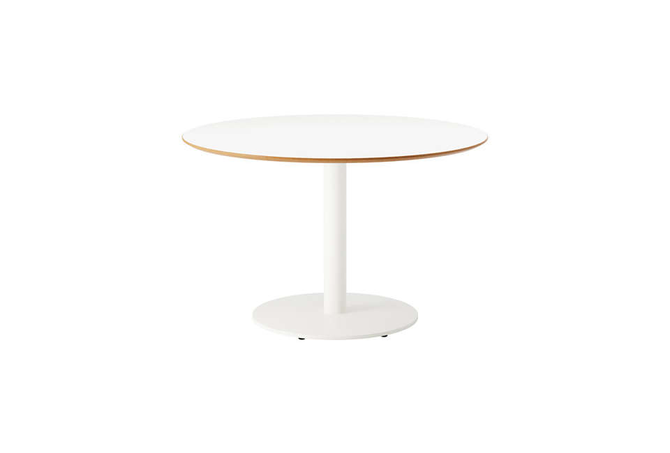 Simple White Round Dining Tables